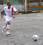 Randi playing soccer