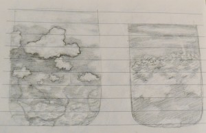 pencil drawings of clouds