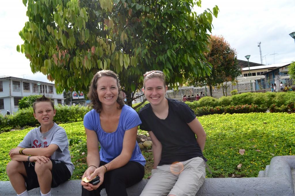 Beka, Ezra, Rachel in Park