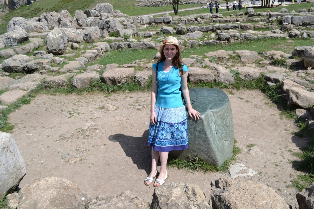 I perch in the remains of a Hittite citadel