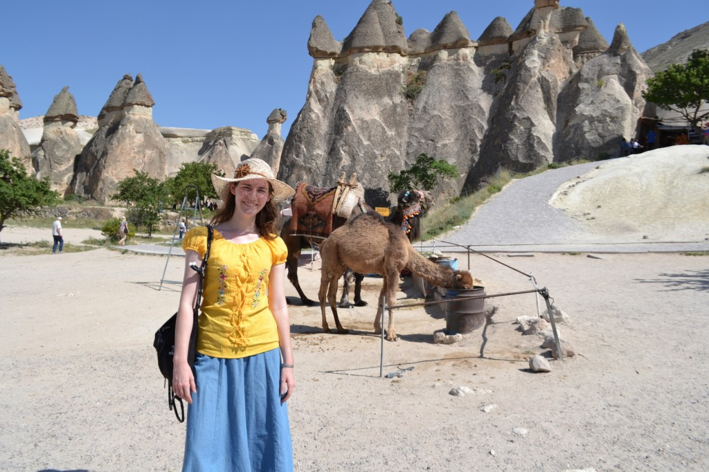 The first camels I spotted in Turkey! I didn't ride them, either