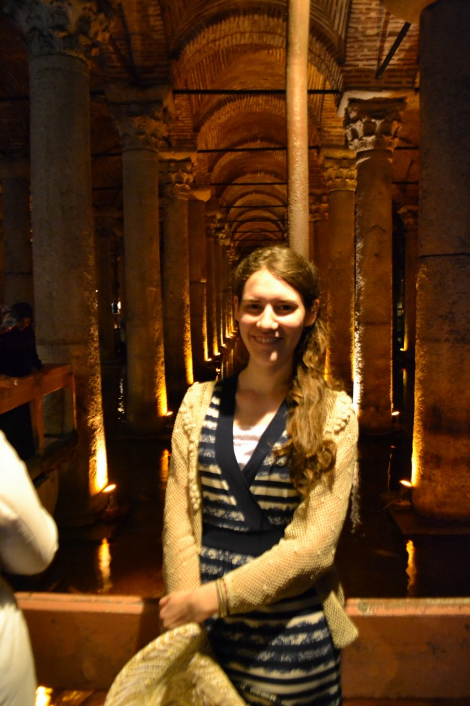 Penultimate stop: The Underground Cisterns once collected water for the city; now only bands of tourists and schools of carp enjoy them.
